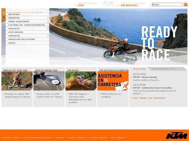 KTM España renueva su web