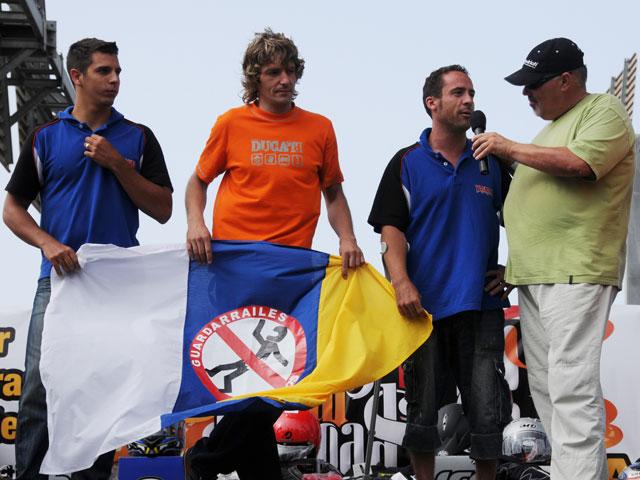 Los pilotos de Yamaha Del Amor, De Gea y Salom, en Ride Your Roads
