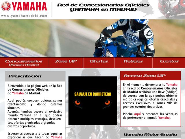 Yamaha en Madrid pone en marcha una web dedicada a sus clientes