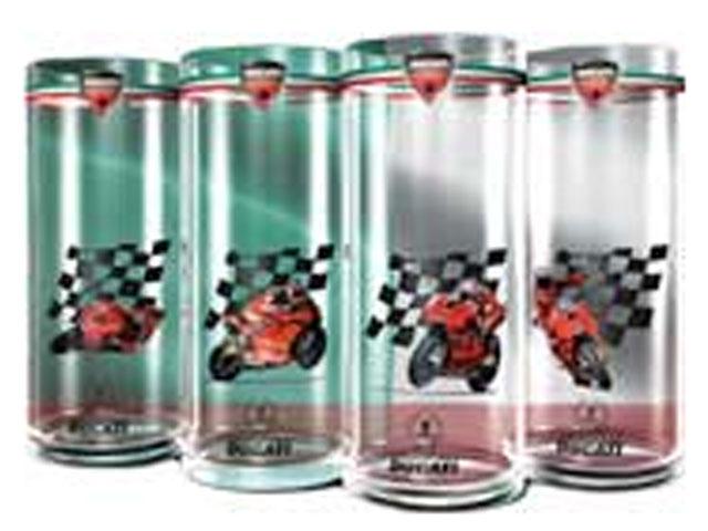 Colección exclusiva de vasos Ducati Corse