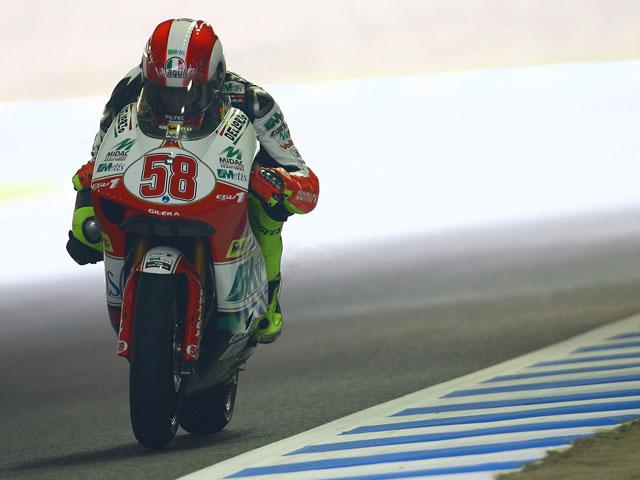 Simoncelli (Gilera) ejerce de líder en 250 cc