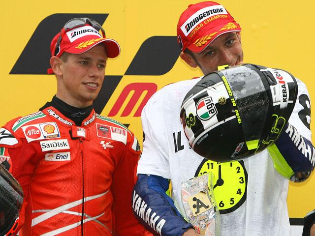 "Casey Stoner (Ducati): ""Quiero felicitar a Valentino Rossi"""