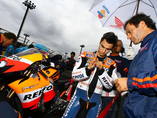 Entrenamientos de Dani Pedrosa (Honda) en Motegi