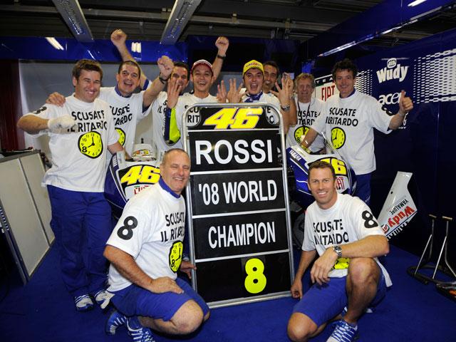 El octavo título de Valentino Rossi (Yamaha), en imágenes