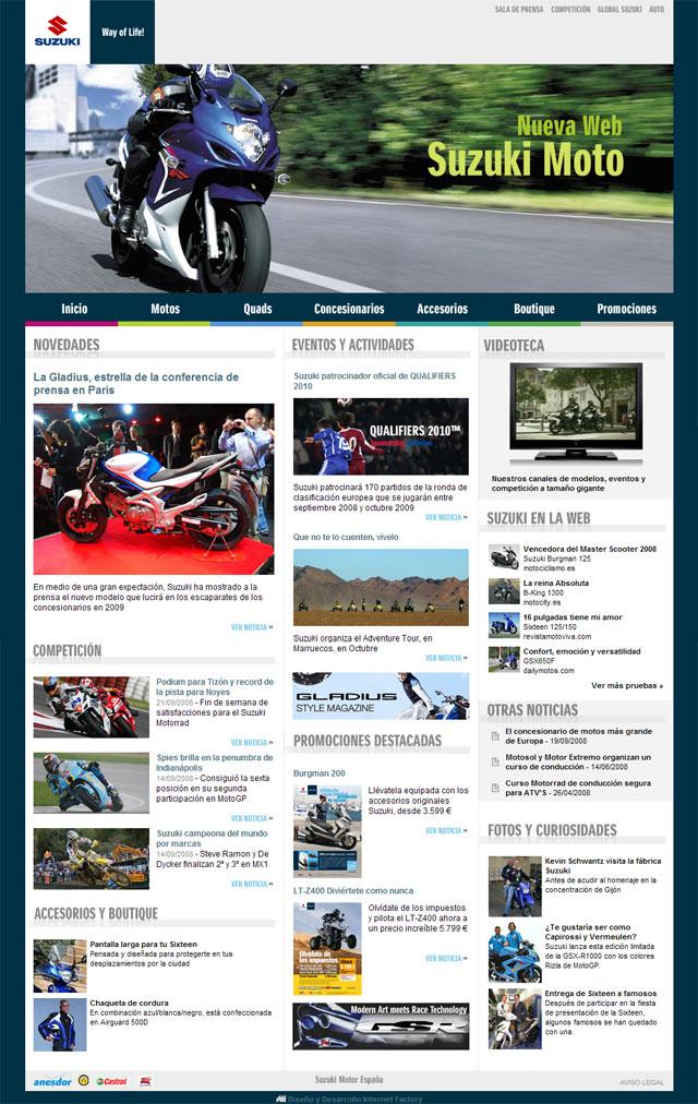 Suzuki renueva su página web