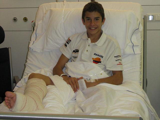Marc Márquez (KTM) examinado en la clínica Dexeus de Barcelona
