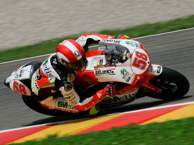 Pole para el campeón del mundo de 250 cc, Marco Simoncelli (Gilera)