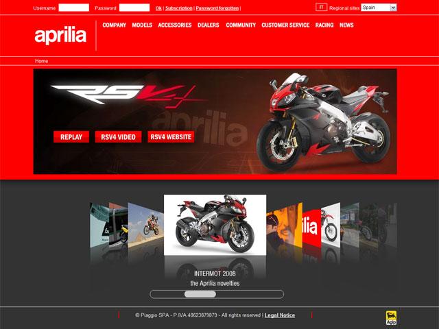 Aprilia estrena nueva web