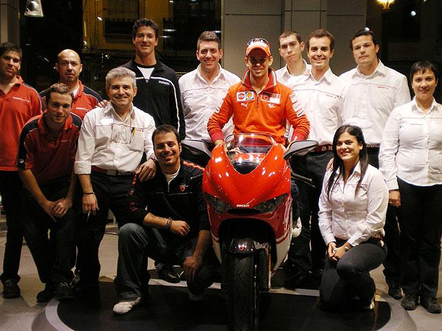 Casey Stoner en Ducati Valencia