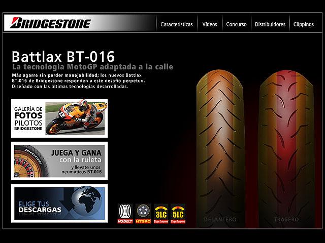 Bridgestone presenta la web del BT016