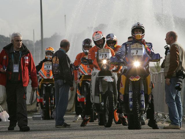 Participantes españoles de moto y quad del Dakar 2009