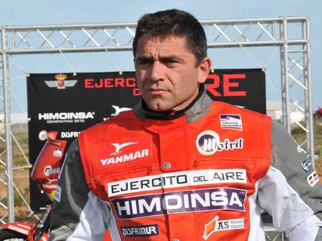 Miguel Puertas (KTM), preparado para participar en el Dakar 2009
