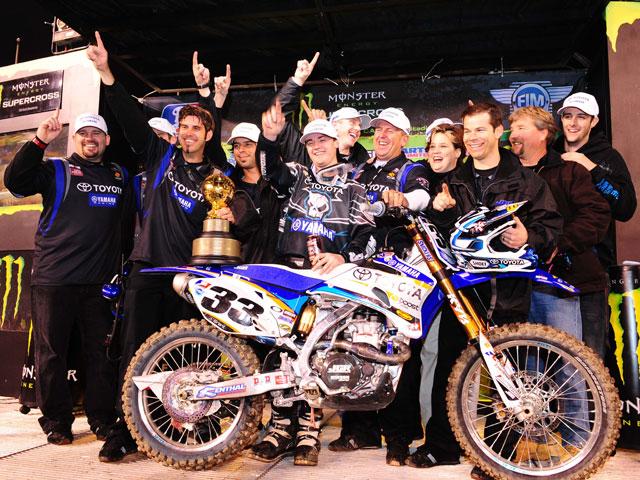 Josh Grant (Yamaha) logra la victoria en el Supercross Monster Energy