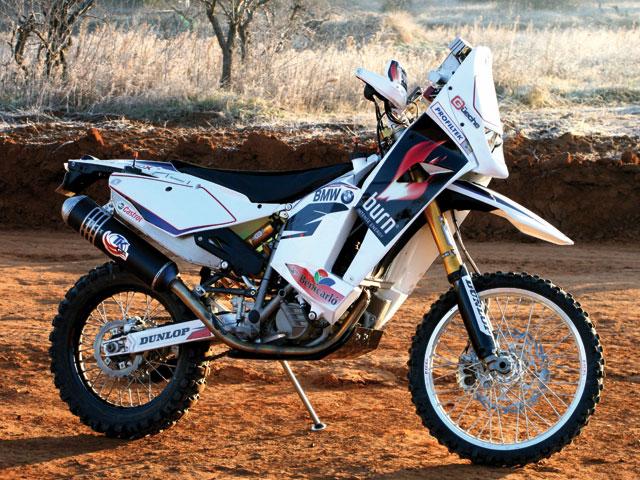 BMW G 450 X, la moto de Pellicer en el Africa Race