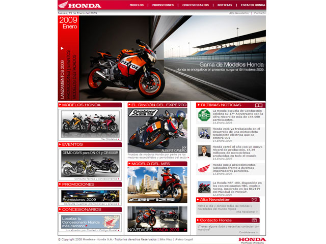 Montesa-Honda estrena página web