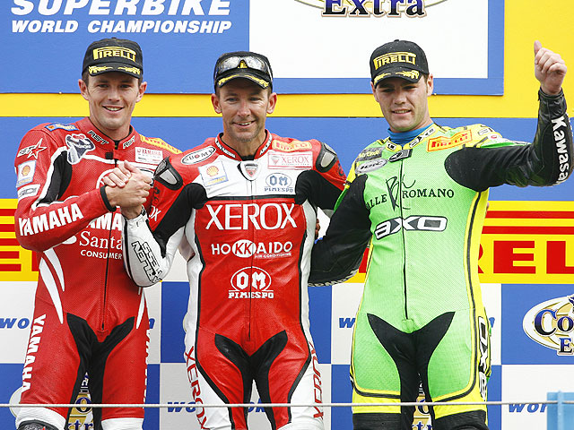 Primer podio de Fonsi en SBK