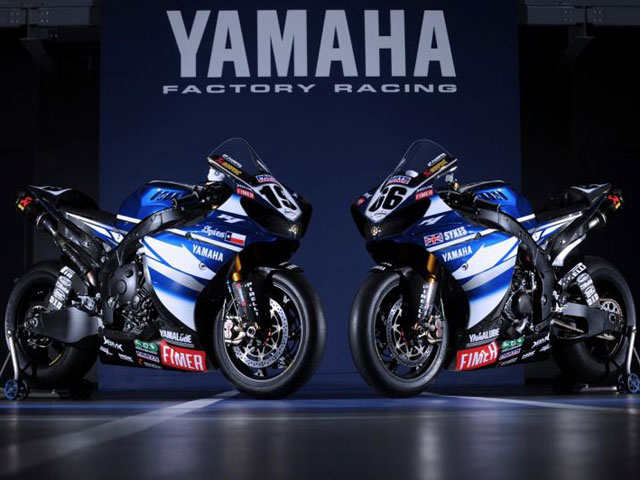 Colores de guerra para el Yamaha World Superbike Team