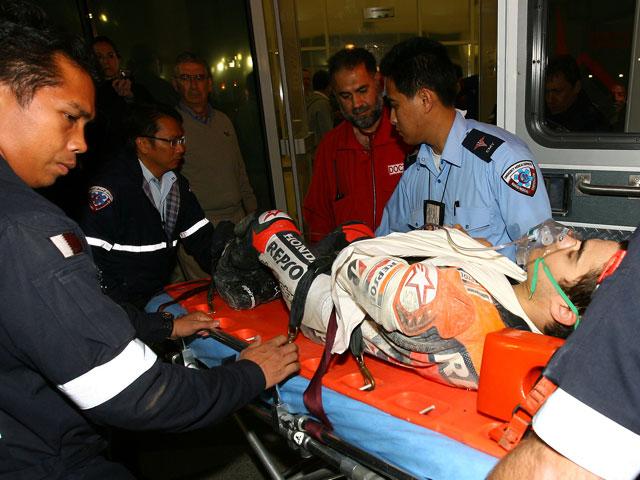 Fuerte caída de Dani Pedrosa en Qatar