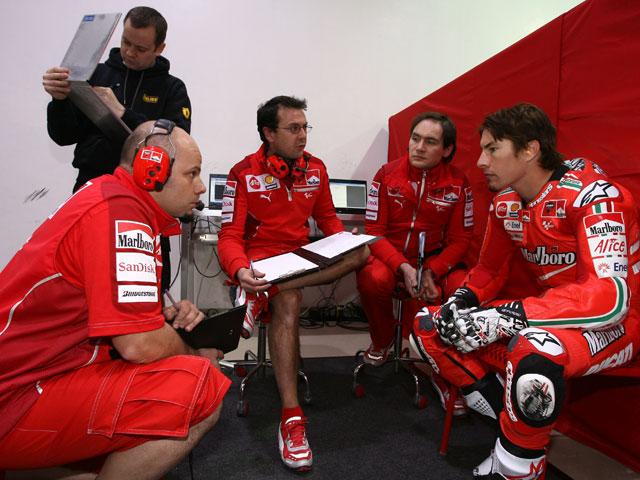 Livio Suppo, contento con Nicky Hayden en Ducati
