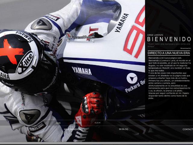 Jorge Lorenzo (Yamaha) estrena página web
