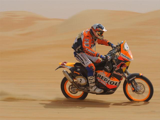 Marc Coma (KTM), líder provisional en Abu Dhabi
