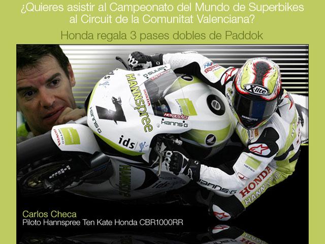 Honda te invita a las Superbikes en Valencia