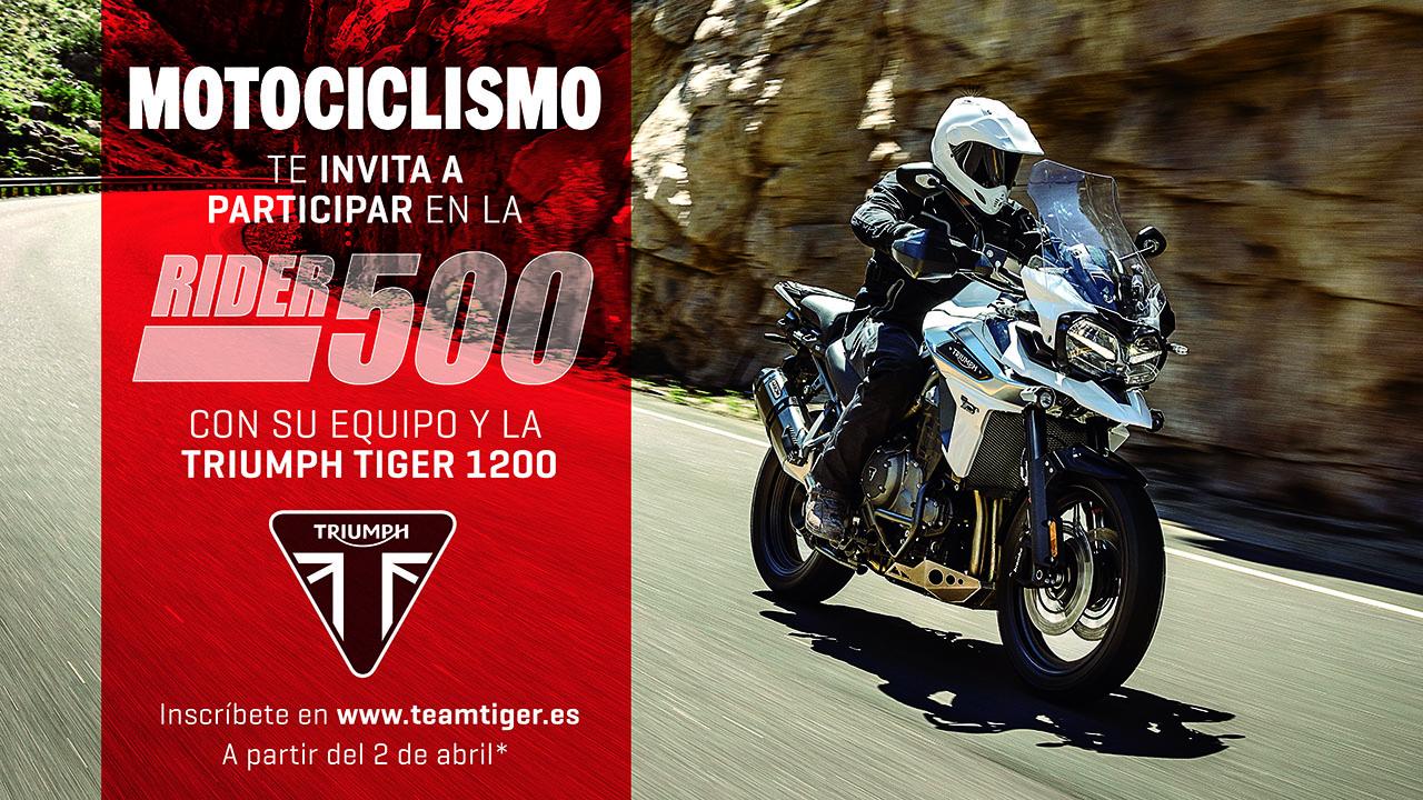 Participa en la Rider 500 con el equipo Triumph Motociclismo Tiger