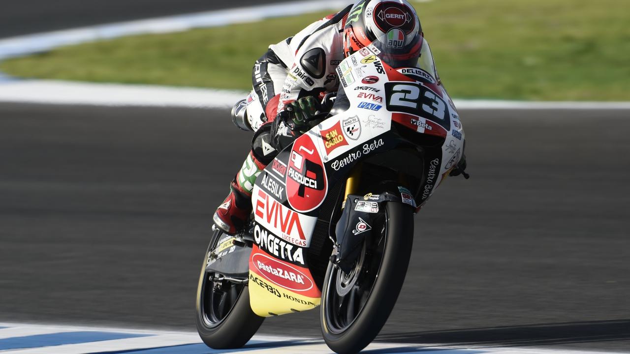 Niccolò Antonelli vuela el primer día de Moto3 en Jerez 2018