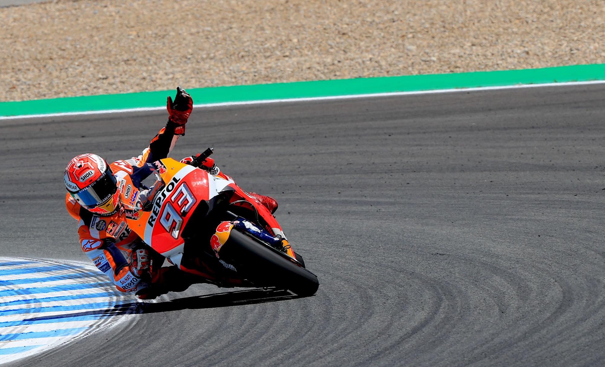 """Marc Márquez: """"Jorge Lorenzo parecía el de Yamaha, tenía muy buena velocidad"""""""