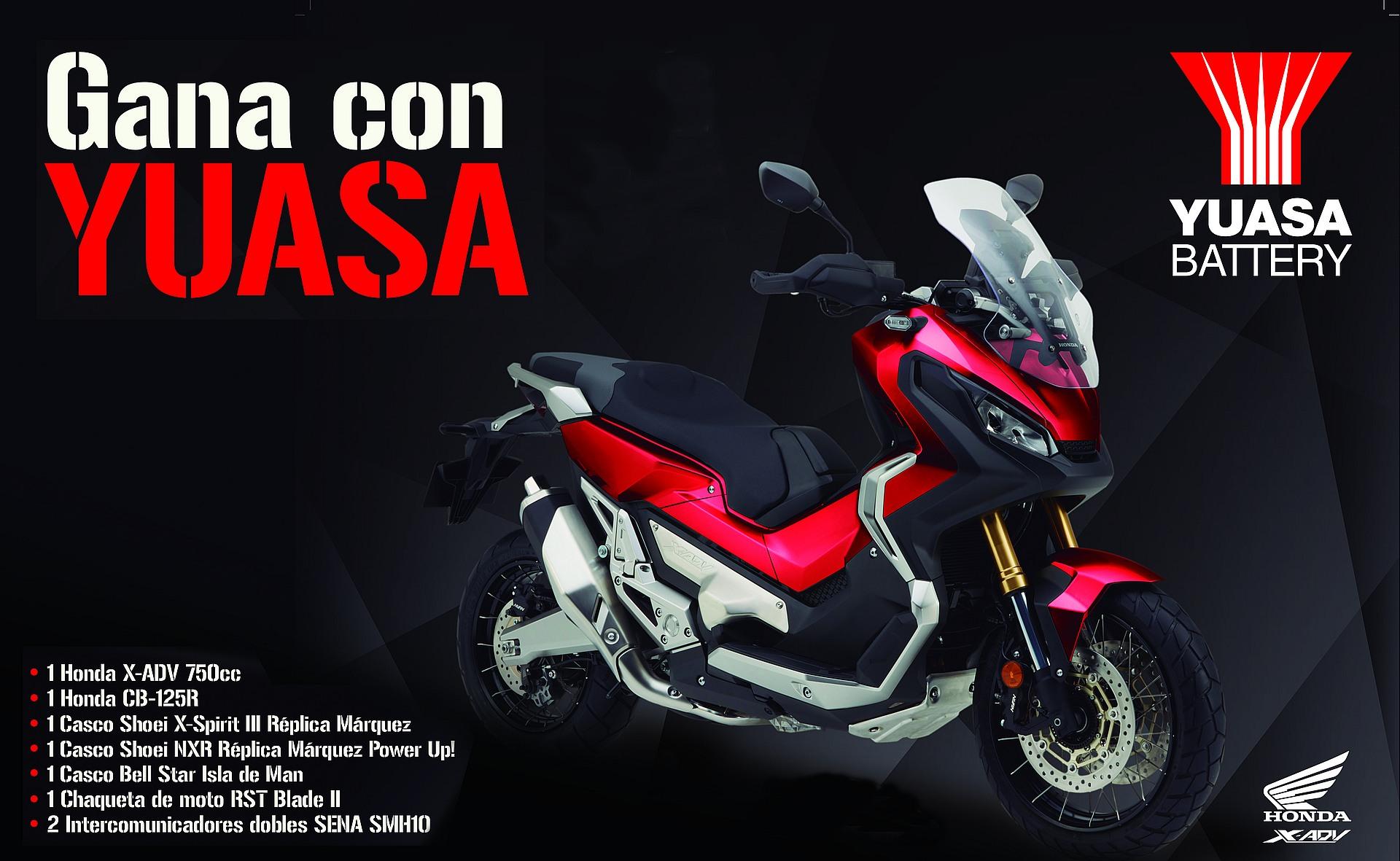Gana una Honda con las baterías Yuasa