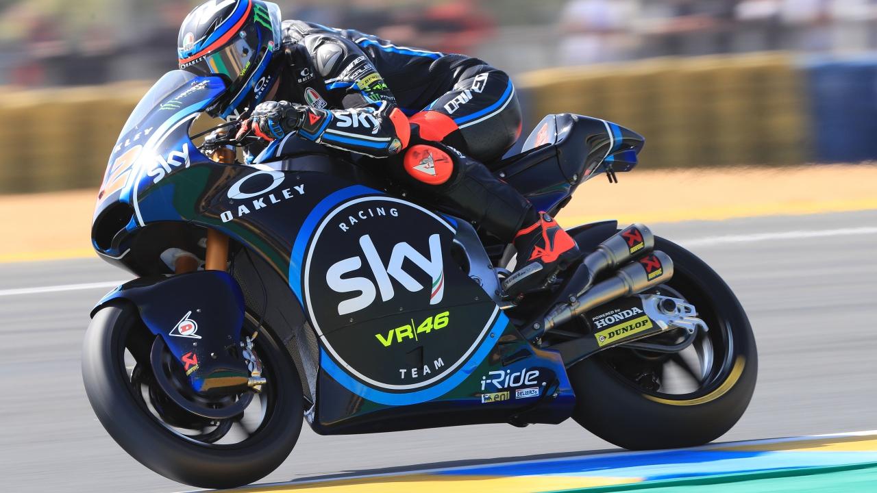 Pecco Bagnaia logra en Le Mans su primera pole en Moto2