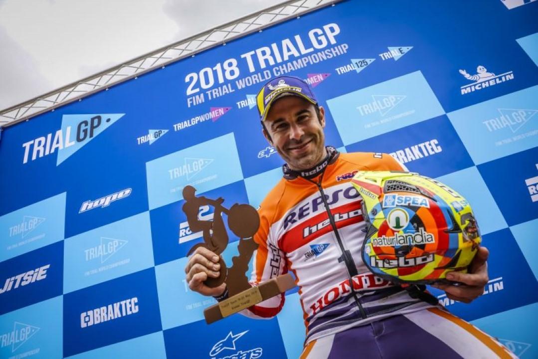 Toni Bou abre con victoria el Mundial de TrialGP en Camprodón