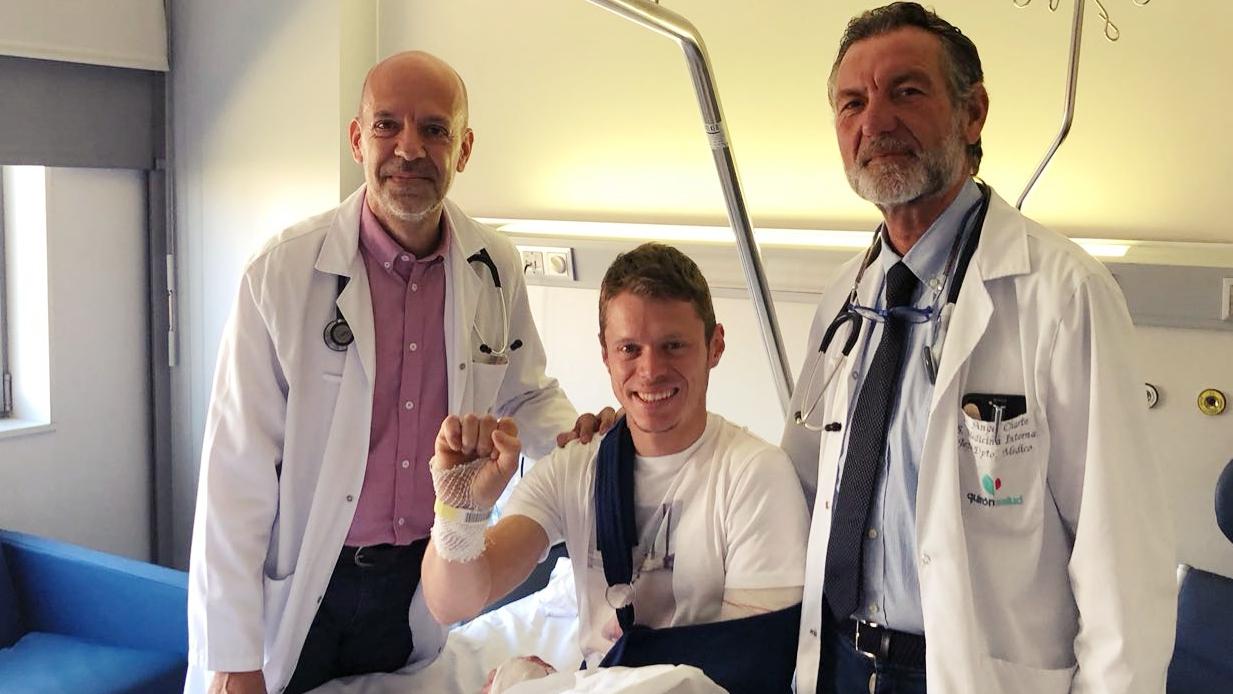 Tito Rabat tiene cuatro lesiones en el brazo pero quiere correr en Mugello