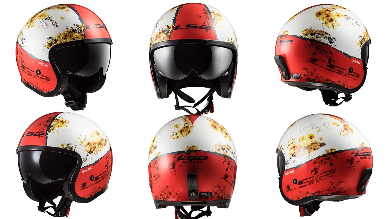 El nuevo LS2 Spitfire Rust, un casco con estética vintage