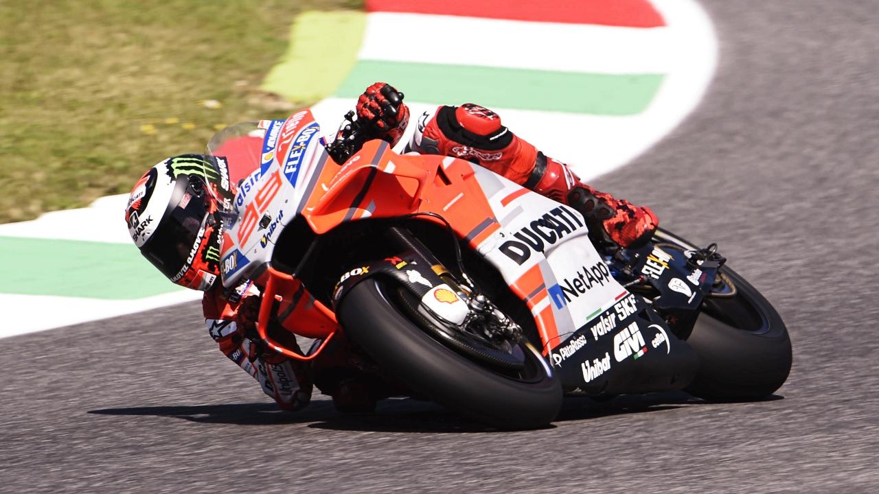 Jorge Lorenzo gana con Ducati en Mugello, podio de Valentino Rossi y cero de Marc Márquez