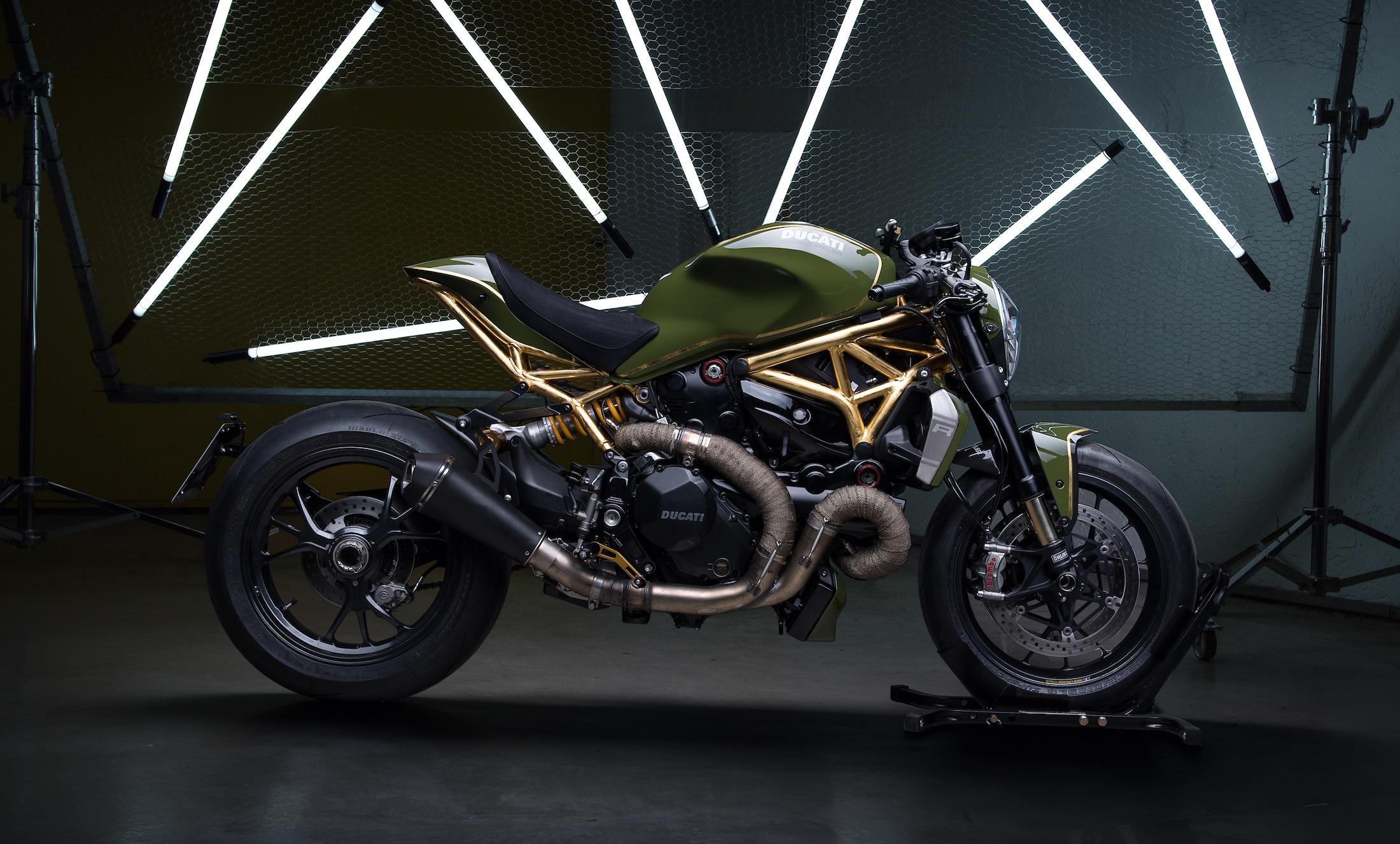Ducati Monster DA#15, oro de 24K para la más bestia de las Monster