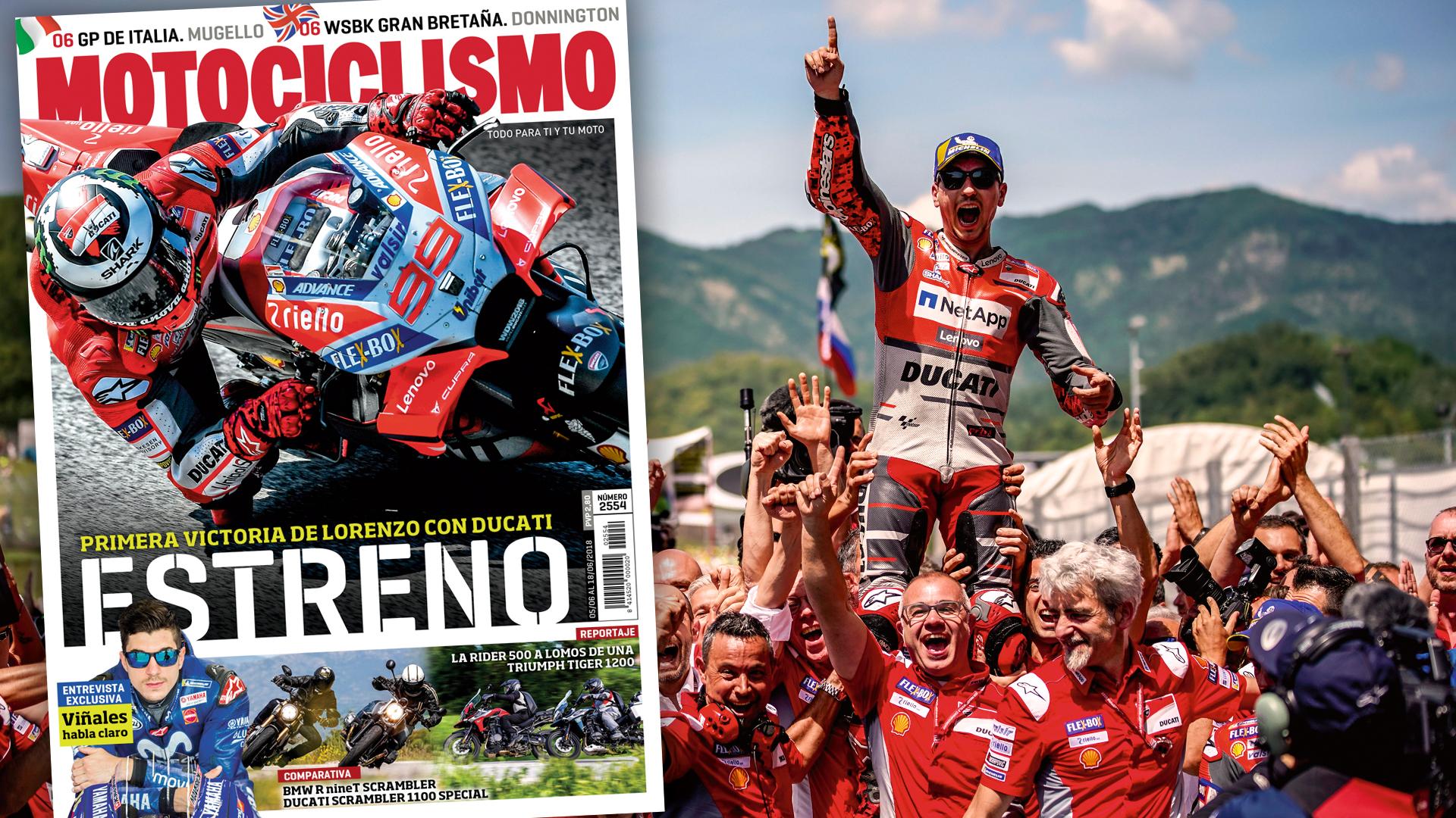El estreno de Lorenzo con Ducati en la portada de MOTOCICLISMO