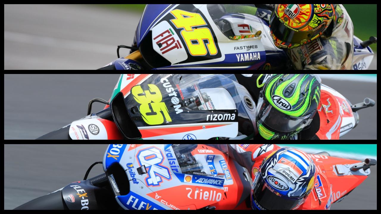 Honda-Yamaha-Ducati, un triángulo que sólo contiene ocho pilotos en MotoGP
