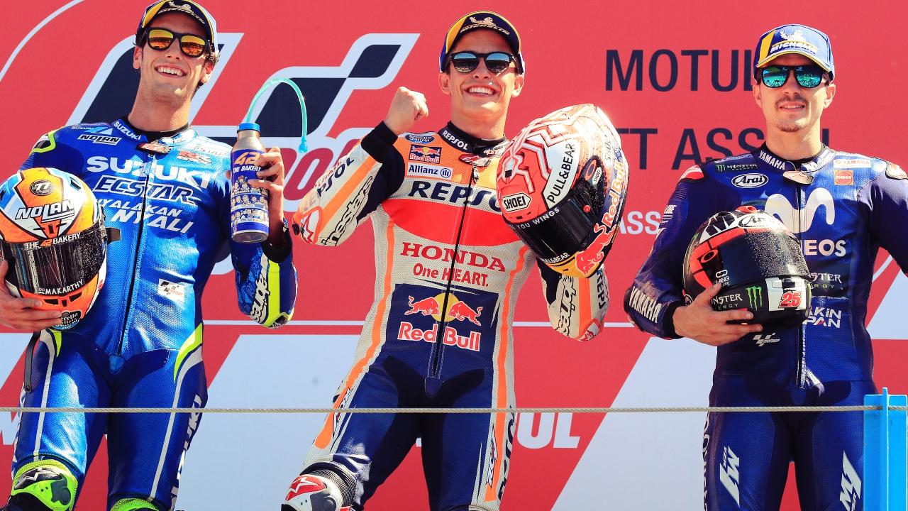 Un triplete único para España en MotoGP