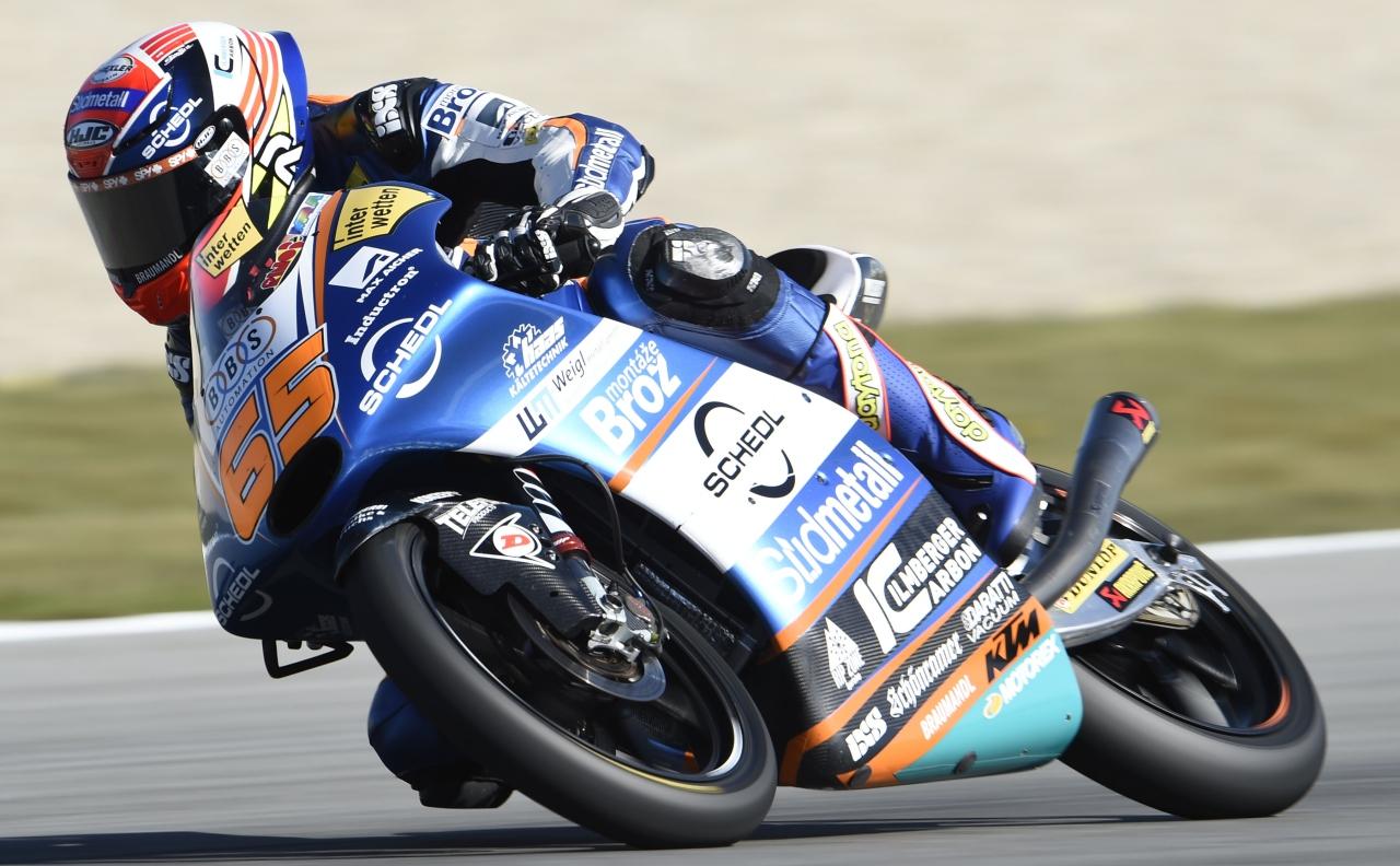 Philipp Oettl lidera el viernes de Moto3 en Alemania con Jorge Martín muy cerca
