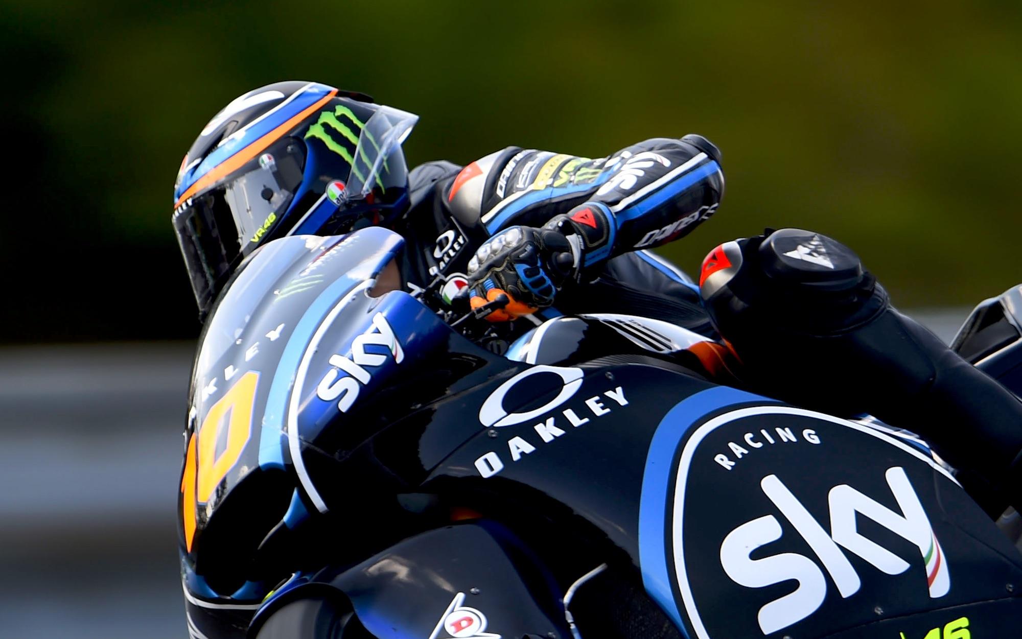 Tras su primer podio, Luca Marini alcanza su primera pole position