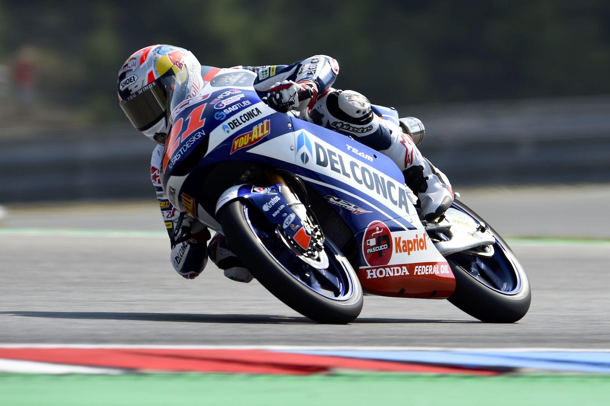 Fabio Di Giannantonio se lleva el carrerón de Moto3 en Brno