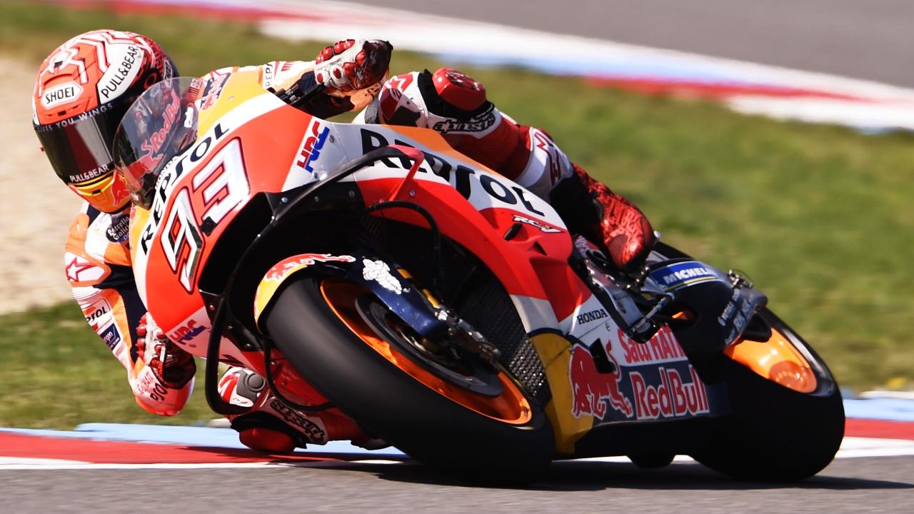 Marc Márquez lidera el test de MotoGP en Brno ante Johann Zarco y Dani Pedrosa