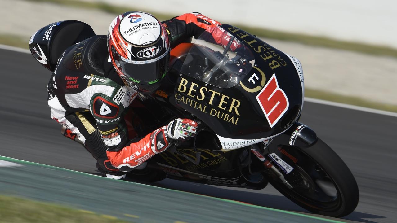 Jaume Masiá acaba el viernes como el más rápido de Moto3 en Austria