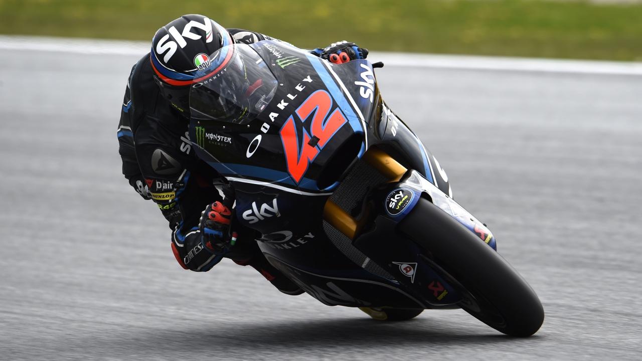 Pecco Bagnaia lidera los libres de Moto2 antes del diluvio en Austria