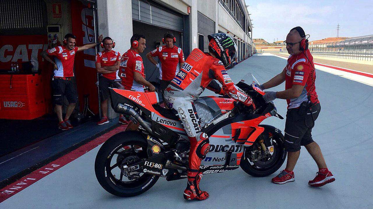 Ducati llevará piezas nuevas a Misano y Aragón