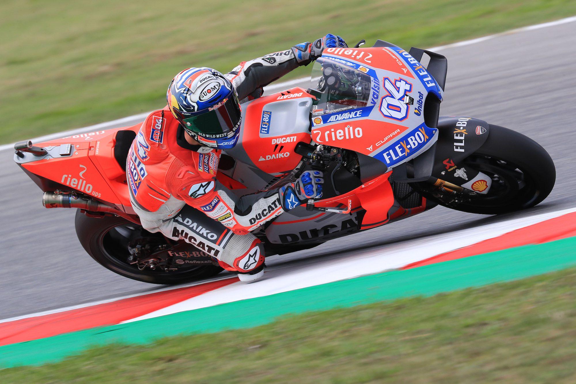 Andrea Dovizioso y Jorge Lorenzo comienzan mandando en Misano