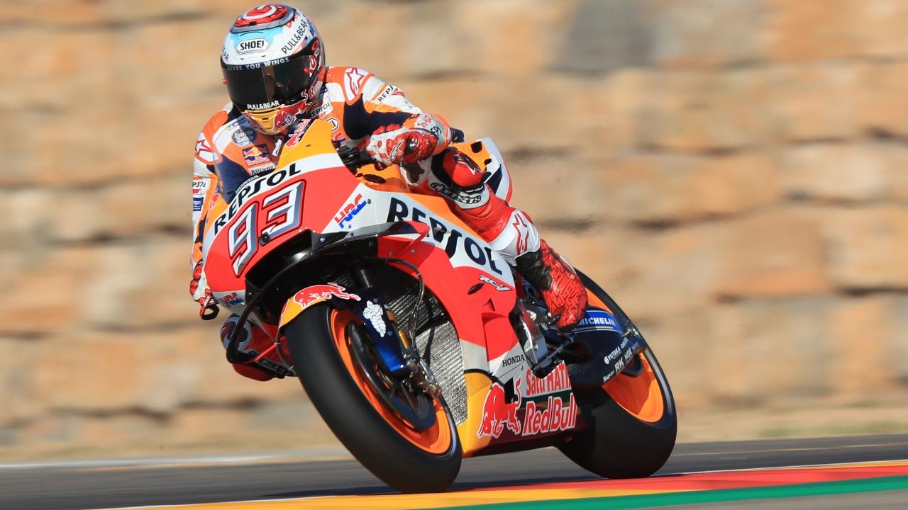Marc Márquez, la moneda de Aragón y la puerta de MotoGP 2018