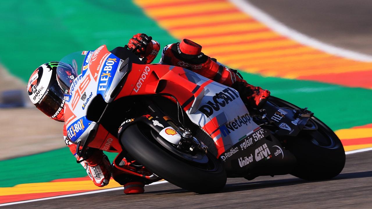 Jorge Lorenzo deja sin pole a Andrea Dovizioso en el esperpento de MotoGP en Aragón