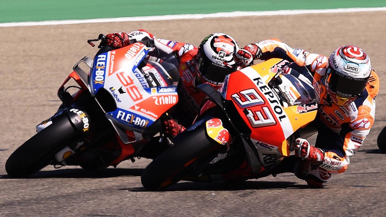Jorge Lorenzo calma las aguas de MotoGP después de una llamada de Marc Márquez